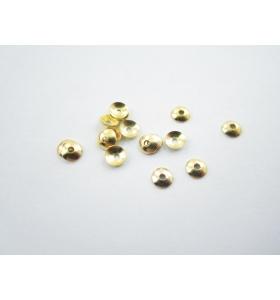 coppette lisce dorate di 4 mm foro 0,8 mm 50 pz
