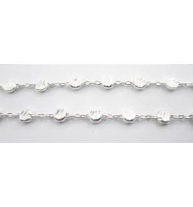 10 cm di catena modello bollina argento 925