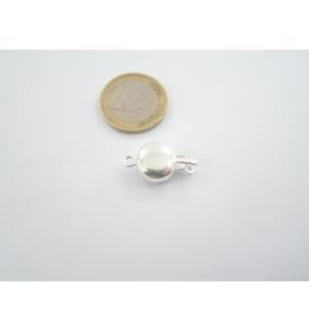 chiusura tonda liscia in argento 925 per un filo