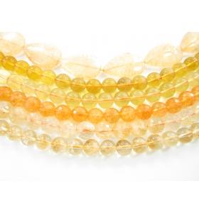 pietre dure quarzo citrino 1° scelta di 9,5 mm circa 1 filo lungo  40 cm