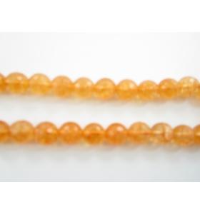 Quarzo citrino brandy topazio sfaccettato di 10 mm  1 filo lungo  39 cm
