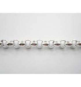 catena rolò di 9x4 mm argento 925 vuoto- 50 cm