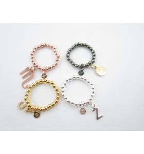 anello regolabile elastico in argento 925 pallini di 3 mm