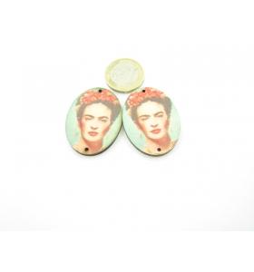 2 basi in legno Frida Kahlo 2 fori