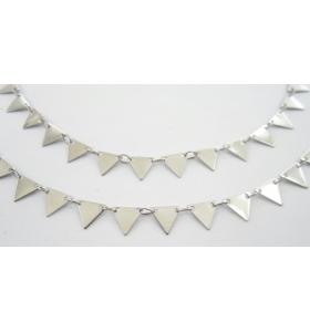 catena triangoli in acciaio chirurgico di 7x7 mm 50 cm