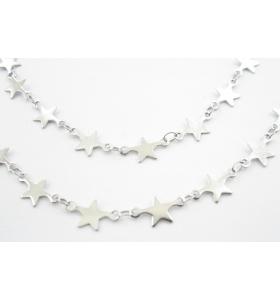 catena stelline in acciaio chirurgico di 20x7 mm -50 cm