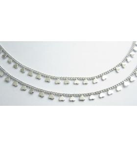 catena forzatina con cuori pendenti acciaio chirurgico di 20x7 mm -50 cm