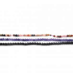 pietre dure ametista sfaccettata di 1° scelta 2 mm 1 filo