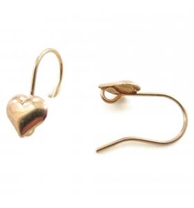 Monachelle orecchini argento 925 placcato oro giallo 18x9 mm - 2pz