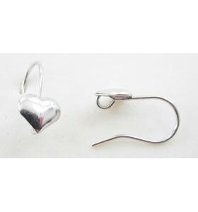 Monachelle orecchini argento 925 rodiate 18x9 mm - 2pz