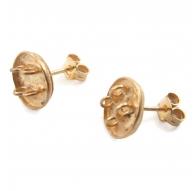 orecchini perno con 4 anellini aperti argento 925 placcato oro giallo di 13x10 mm 2pz