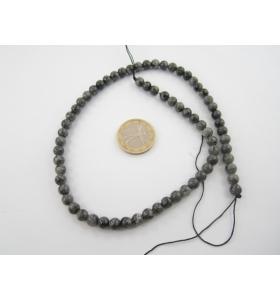 1 filo di pietra occhio di falco cabochon diametro 6 mm.