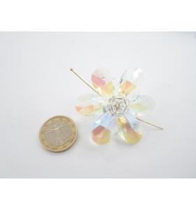 grande centrale a fiore cristallo e piccola madreperla