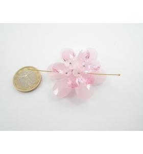 grande centrale a fiore cristallo rosa