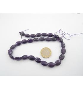 1 filo di giada viola ovale...