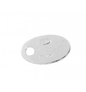 3 etichette ovali argento 925 rodiato punzonate (italy 925)