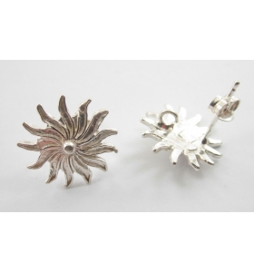Orecchini perno sole argento 925  di 15 mm - 2pz