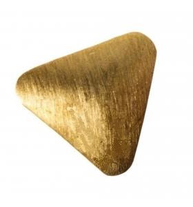 Orecchini perno triangolo 3 fori argento 925 placcato oro di 14x14  mm - 2pz