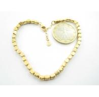 Bracciale cubetti argento 925 placcato oro giallo -1pz