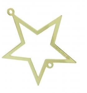 connettore stella di 17x15 mm argento 925 rodiato nero1 pz