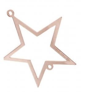 connettore stella di 17x15 mm argento 925 placcato oro rosè 1 pz