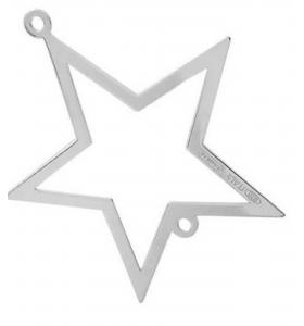 connettore stella di 17x15 mm argento 925 1 pz