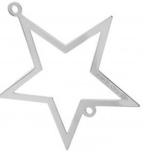 connettore stella di 32x30 mm argento 925 1 pz