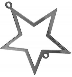 connettore stella di 32x30 mm argento 925 rodiato nero1 pz