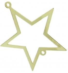 connettore stella di 32x30 mm argento 925 placcato oro giallo 1 pz