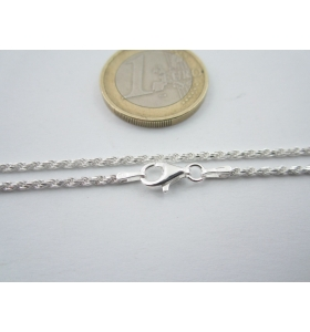 catenina lunga 44 cm cordoncino di 1,6 mm in argento 925 sterling made in italy