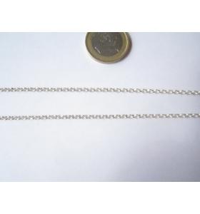 10 cm. di catena rolò diamatata in argento 925 Italt 2,5 mm.