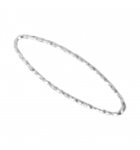 Basi orecchini connettori ovali martellati 26x8 mm  argento 925 rodiati 2 pz.