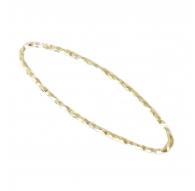 Basi orecchini connettori ovali martellati 26x8 mm argento 925 placcati oro giallo 2 pz.
