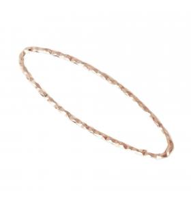 Basi orecchini connettori ovali martellati 26x8 mm  argento 925 placcati oro rosè 2 pz.