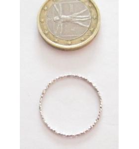 Basi orecchini connettori tondi martellati 20 mm  argento 925 rodiato 2 pz.