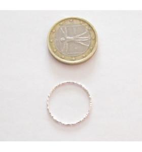 Basi orecchini connettori tondi martellati 25 mm  argento 925  2 pz.
