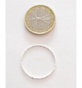 Basi orecchini connettori tondi martellati 20 mm  argento 925 2 pz.