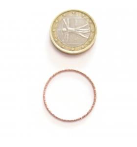 Basi orecchini connettori tondi martellati 25 mm  argento 925 placcati oro rosa 2 pz.