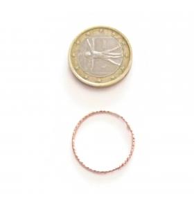 Basi orecchini connettori tondi martellati 22 mm  argento 925 placcati oro rosa 2 pz.