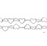 catena cuore 7x6 mm argento 925   -10 cm