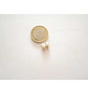 2 ovali medi in argento 925 liscio 8x5 mm.