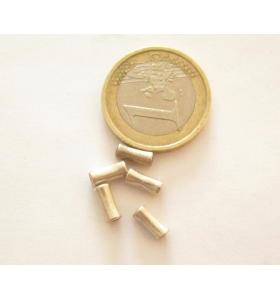 6  mini tubini svasati in argento 925  della misura 4 x 2,5 mm