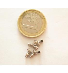 6  tubini in argento 925 sbalzato misure 3,8x2,6 mm