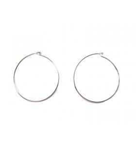 4 monachelle cerchio in filo rodiato diametro 25 mm