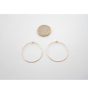 4 monachelle cerchio in filo dorato diametro 30 mm