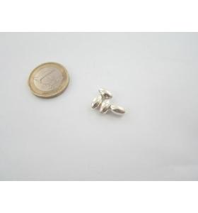 4 ovali chicco di riso in argento 935 liscio 8x5 mm.
