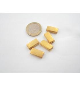 1 componente rettangolare in argento 800 dorato 16x8x5,5