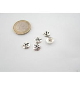 4 coppette copripietra argento 800 diametro 9 mm.