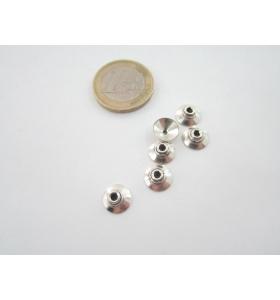 5 coppette copripietra argento 800 diametro 9 mm.