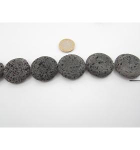 una pietra di lava vulcanica tonda piatta 35 mm.